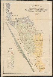A Geological Map Of The Land Belonging To The New York And Texas