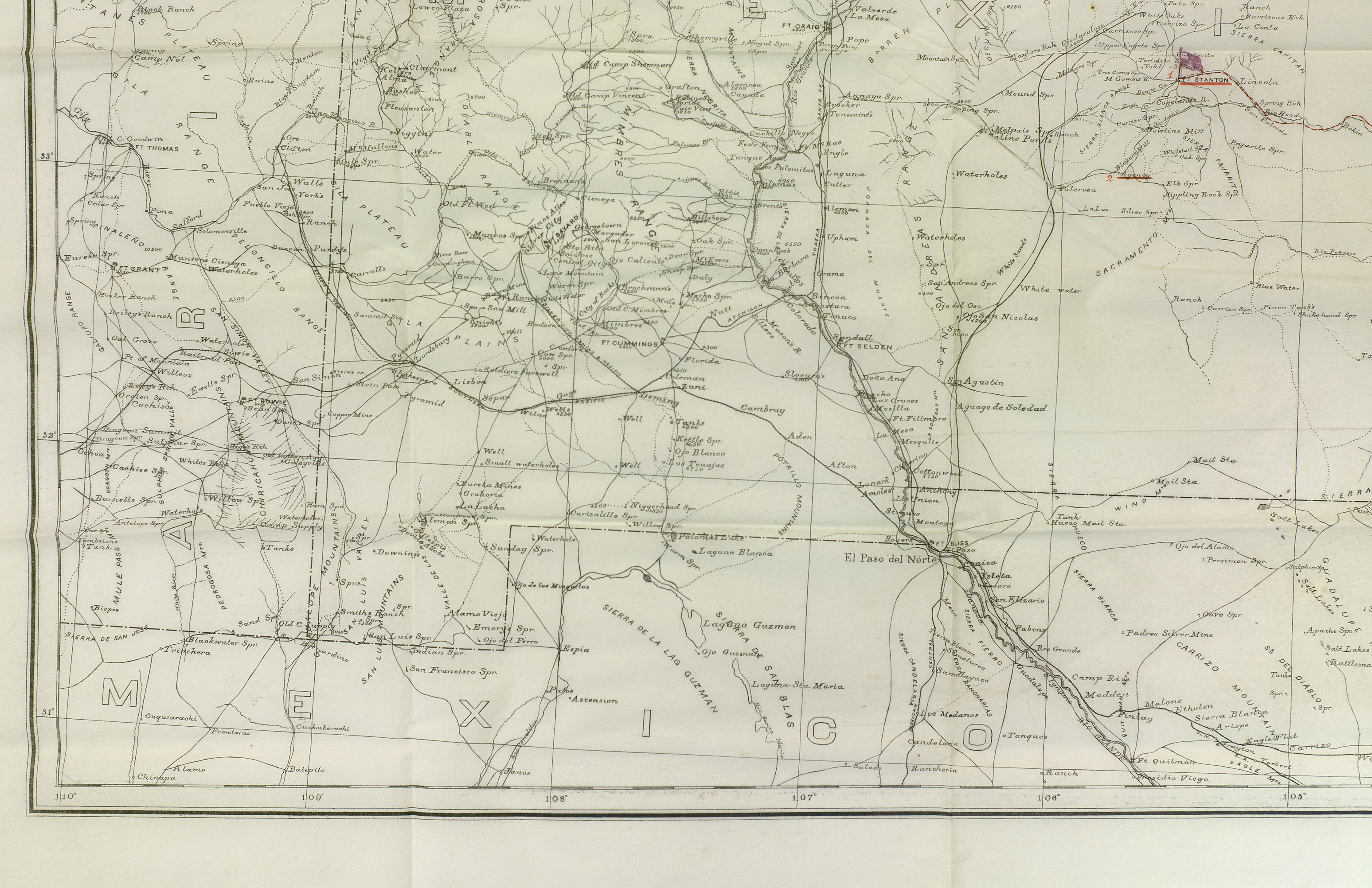 Official US Military Map of the Staked Plains