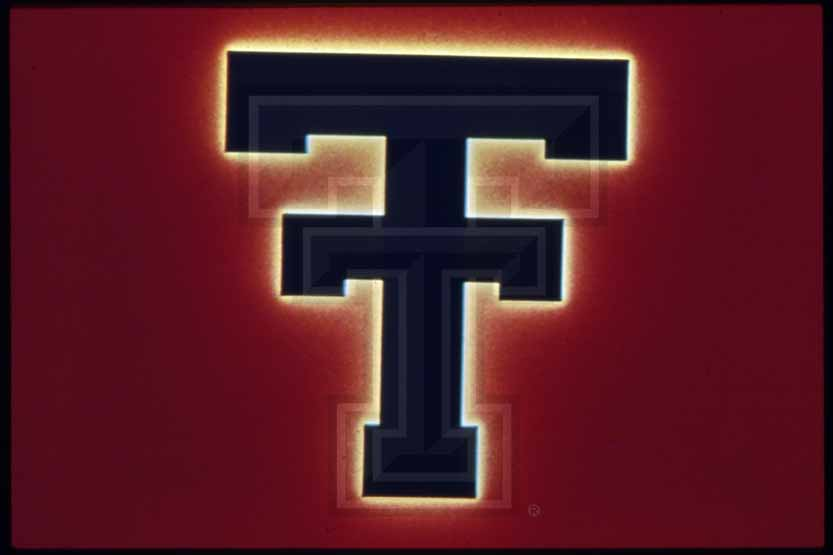 Double T Logo On Red Background